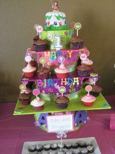 Fairy cake & cupcake stand i made for a friend!