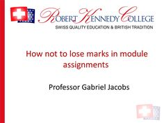 How not to lose marks in assignments
