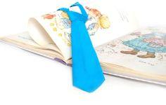 little man tie PRETIED NECKTIE  blue by TheBestBoysTies on Etsy, $9.50