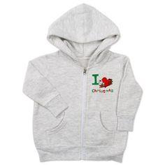 I Love Christmas- I Heart Christmas Baby Zip Hoodi