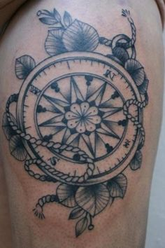 idea for thigh tattoo. surround in elements. no matter what i face, i will always find the way home.