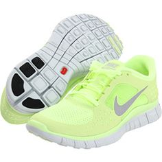 Nike - Free Run 3 - lime green or pink...hmmm decision decisions