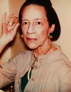 Fashion Icon Diana Vreeland by her friend Andy Warhol. Foto Portrait, Diana Vreeland, Its Friday Quotes, People Of Interest, Vogue, Costume Institute, Nyc, Andy Warhol, Best Photographers