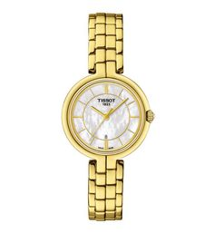 2f8cc746de6 Tissot Flamingo Ladies Gold Watch. - Geeves Jewellers - suppliers of watches  and jewellery