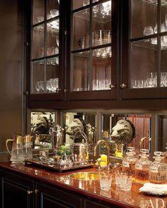 Fernanda Kellog and Kirck Hencke's NYC Apartment Bar via AD