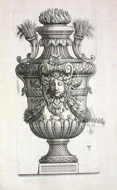 Marot Decorative Vases c. 1660