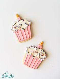 Easy Birthday Cupcake Cookies Tutorial | TikkiDo.com