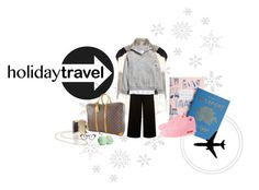 #travelinstyle by tzortziadel on Polyvore featuring polyvore, fashion, style, Rebecca Taylor, Plane, Vince, Proenza Schouler, Eos, NIKE, Louis Vuitton, See Concept, H&M, Rifle Paper Co and travelinstyle
