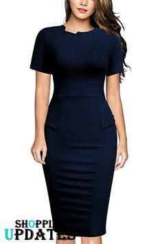 Check out the women's dresses collection. Find out the perfect dresses for you. Lovely Dresses, Elegant Dresses, Casual Dresses, Fashion Dresses, Women's Dresses, Office Dresses For Women, Dresses For Work, Clothes For Women, Stylish Work Outfits
