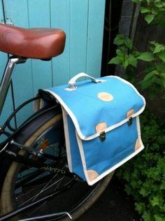 Dobbel retro sykkelveske -blå 998kr
