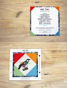 #invitation de Hei Tiki #FLYER, 10x10, papier 350g demi mat