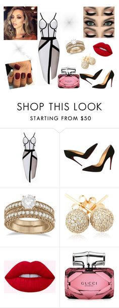"""night24"" by nelssy-escalante-machacon on Polyvore featuring moda, Christian Louboutin, Allurez, Loushelou y Gucci"