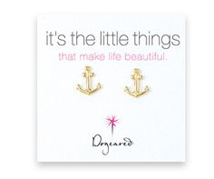 DOGEARED ANCHOR EARRINGS GOLD $42- CALL SPLASH TO ORDER 314-721-6442