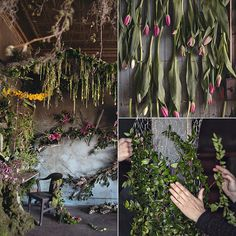 Thousands of Flowers Turn This Abandoned House Into a Fairy-Tale Work of Art: When most of us dream of making over an old home, it involves contractors, decorators, and a few slabs of Carrera marble; for Detroit florist Lisa Waud, however, a few thousand flowers — think forsythia, crocus, lilac, and daffodils — are enough to transform even the most dilapidated home into a magical work of art.