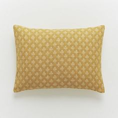Jacquard Leaf Silk Pillow Cover - Horseradish for $34 from West Elm