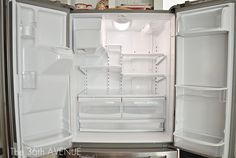 How to clean and keep your fridge CLEAN.  the36thavenue.com