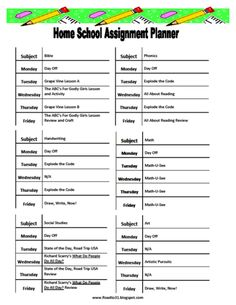 Homeschool Curriculum Choices and Personal Schedule - FREE PRINTABLE!