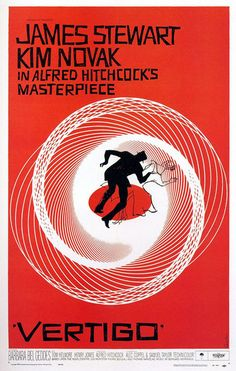 Saul Bass: Poster for Vertigo, dir. Alfred Hitchcock The Saul Bass Poster Archive Best Movie Posters, Classic Movie Posters, Cinema Posters, Classic Movies, Old Film Posters, Awesome Posters, Music Posters, Vertigo Movie, Vintage Movies