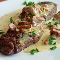 Steak With Creamy Chanterelle Sauce | The Daring Gourmet
