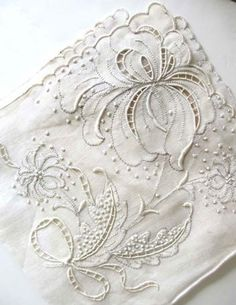 antique embroidered linen