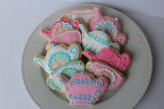 Tea Party Sugar Cookies bridal shower cookie by Just4YouTreats
