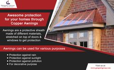 Awesome protection for your homes through copper awnings. #property #realestate #residence #home #GangotriGroup