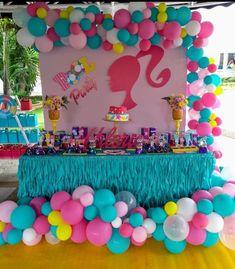 Barbie Party Decorations, Barbie Theme Party, Barbie Birthday Cake, Barbie Cake, Baby Girl Birthday, Decoration Party, 6th Birthday Parties, 7th Birthday, Birthday Ideas
