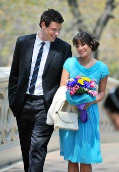 Finn and Rachel (Finchel) from Glee.