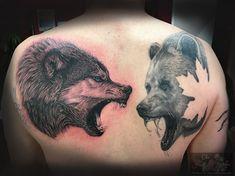 Rücken in progress Bär ist abgeheilt, Wolf neu :-) #forlifecolor #christattoo #tattoorosenheim #raublingtattoo #tatts #tattoo #tattooedmen #germantattooers #tattoos #tattooink #ink #tattooer #tatts #inklove #tattoolovers #tattoolifestyle #tattooworld #tattoosofinstagram #realistictattoo #tattooart #inked #inkedlife #blackandgreytattoo #wolftattoo #inprogress