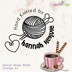 Custom Rubber Stamps Hand Knitted with love / by myrubberstamp, $18.00