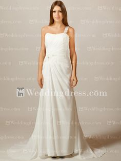 Hot sale one-shoulder beach wedding dress with slit collections have arrived! Some even under $200.