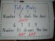 Tally Marks poem for Kindergarten