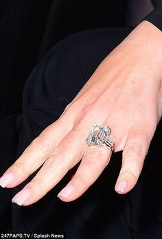 Brides.com: . Mariah Carey. Mariah Carey's billionaire beau just proposed with an emerald-cut ring that totes a whopping 35-carat count. Move over, Kim K (with your measly 15-carat ring)! There's a new super-sized sparkler in Tinsel Town.