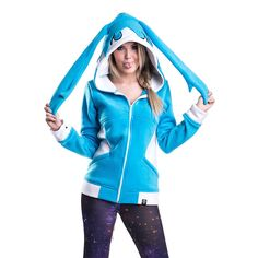 Cupcake Cult Happy Hoodie (Turquoise/White)