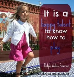 The importance of play via--an awesome 10 day series about making your kid a life long learner! Hands On Activities, Craft Activities For Kids, Learning Activities, Play Quotes, Special Needs Kids, Learning Through Play, Kids Education, In Kindergarten, Kids Gifts