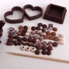Miniature chocolate pralines ^^ by PetitPlat - Stephanie Kilgast, via Flickr