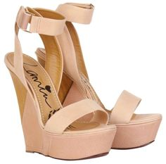 Get the must-have wedges of this season! These Lanvin Nude Puzzle Ankle Strap Platform Sandal Wedges Size US Regular (M, B) are a top 10 member favorite on Tradesy. Lanvin, Platform Wedge Sandals, Wedge Shoes, Heeled Sandals, Platform Shoes, Shoes Sandals, Wedge High Heels, Strap Sandals, Nude Sandals