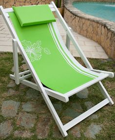 Green Praia Beach Chair Set of 2