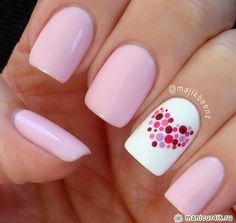 Pink manicure is beautiful, just gently | 2015 nails, nail design ...