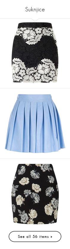 """Suknjice"" by milenam204 on Polyvore featuring skirts, mini skirts, black, petite, petite mini skirt, miss selfridge, black and white short skirt, miss selfridge skirts, short lace skirt and bottoms"