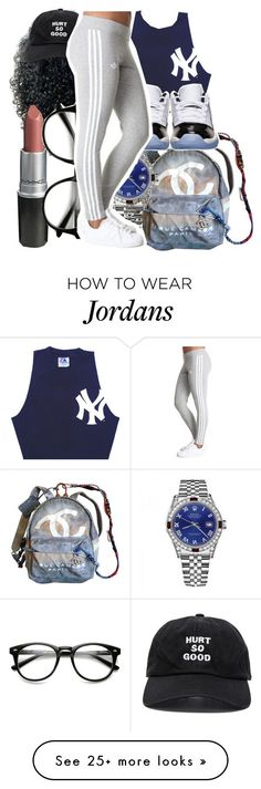 """N•E•W•Y•O•R•K"" by arleenax on Polyvore featuring Chanel, Rolex, Retrò and Blackfist"