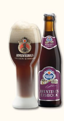 """Aventinus Eisbock """"Mahogany, nearly black Eisbock. The aroma reminds of ripe plums with a hint of bitter almonds and marzipan displaying strong characteristics of banana and clove. Craft Bier, Beers Of The World, Wheat Beer, German Beer, Marzipan, Mixed Drinks, Alcoholic Drinks, Beverages, Beer Bottle"""