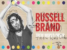 Russell Brand Finally Reschedules South African Tour | El Broide Russell Brand, Comedians, African, Author, Tours, World, Fictional Characters, Writers, The World