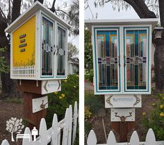 Karen Leffler. Walnut Creek, CA. We designed our own Little Library complete with leaded stained glass doors, painted whimsical flowers behind a white picket fence, and a clear roof to let the sunshine through the doors. The response has been tremendous with avid readers like ourselves visiting daily! Loved this quote: 'A Day Without Reading is ... just kidding, I have no idea!'