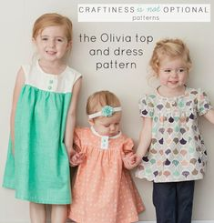 Olivia top and dress pattern // craftiness is not optional