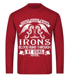 IRONS - Blood Name Shirts Iron Man T-shirt