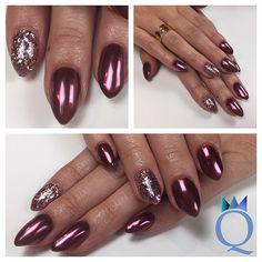 #short #almondnails #gelnails #nails #red #chrome #chunky #glitter #black #rose #kurze #mandelform #gelnägel #nägel #rot #chrom #grobes #glitzer #schwarz #rosa #nagelstudio #möhlin #nailqueen_janine