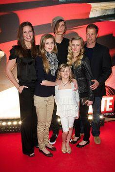 Dana Schweiger, daughters Luna, Lilly, Emma and son Valentin Schweiger