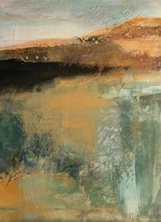 "Earth Vision-Abstract Landscape by Joan Fullerton Mixed Media ~ 16"" x 12"""