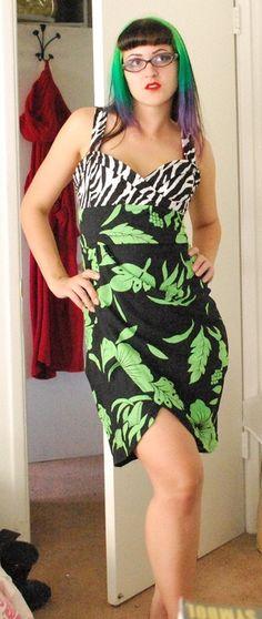DIY tiki pin up dress by Kristen Allen